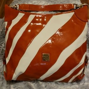 Dooney and Bourke Striped Sac Bag